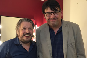 Richard Herring's Leicester Square Theatre Podcast. Image shows from L to R: Richard Herring, Graham Linehan.