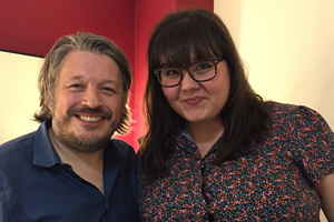 Richard Herring's Leicester Square Theatre Podcast. Image shows from L to R: Richard Herring, Sofie Hagen.
