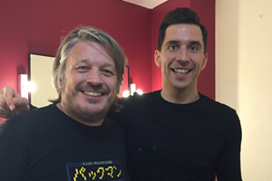Richard Herring's Leicester Square Theatre Podcast. Image shows from L to R: Richard Herring, Russell Kane.