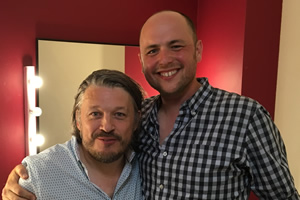 Richard Herring's Leicester Square Theatre Podcast. Image shows from L to R: Richard Herring, Tom Parry.