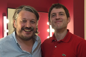 Richard Herring's Leicester Square Theatre Podcast. Image shows from L to R: Richard Herring, Elis James.