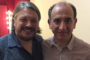 Image shows from L to R: Richard Herring, Armando Iannucci.