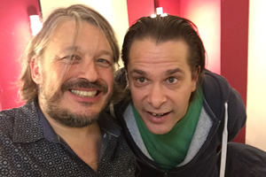 Richard Herring's Leicester Square Theatre Podcast. Image shows from L to R: Richard Herring, Hans Teeuwen.