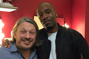 Richard Herring's Leicester Square Theatre Podcast. Image shows from L to R: Richard Herring, Dane Baptiste.