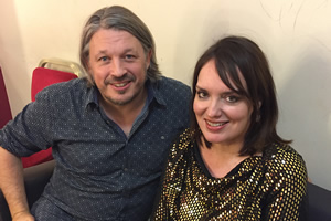 Richard Herring's Leicester Square Theatre Podcast. Image shows from L to R: Richard Herring, Deborah Frances-White.