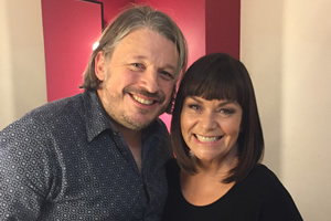 Richard Herring's Leicester Square Theatre Podcast. Image shows from L to R: Richard Herring, Dawn French.