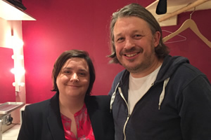 Richard Herring's Leicester Square Theatre Podcast. Image shows from L to R: Susan Calman, Richard Herring.