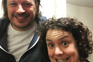 Richard Herring's Leicester Square Theatre Podcast. Image shows from L to R: Richard Herring, Jess Thom.