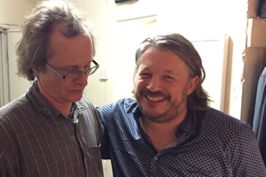 Richard Herring's Leicester Square Theatre Podcast. Image shows from L to R: Simon Munnery, Richard Herring.