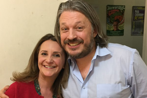Image shows from L to R: Lucy Porter, Richard Herring.