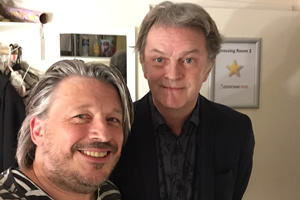 Richard Herring's Leicester Square Theatre Podcast. Image shows from L to R: Richard Herring, Paul Merton.