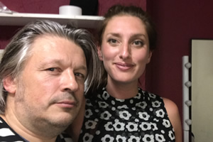 Richard Herring's Leicester Square Theatre Podcast. Image shows from L to R: Richard Herring, Jessica Knappett.