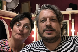 Richard Herring's Leicester Square Theatre Podcast. Image shows from L to R: Zoe Lyons, Richard Herring.