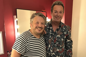 Richard Herring's Leicester Square Theatre Podcast. Image shows from L to R: Richard Herring, Julian Clary.