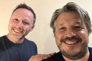 Image shows from L to R: Brian Limond, Richard Herring.