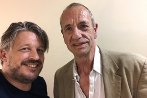 Richard Herring's Leicester Square Theatre Podcast. Image shows from L to R: Richard Herring, Arthur Smith.