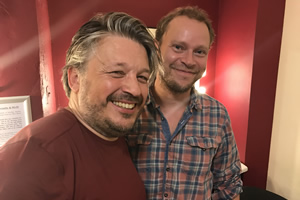 Richard Herring's Leicester Square Theatre Podcast. Image shows from L to R: Richard Herring, Robert Webb.
