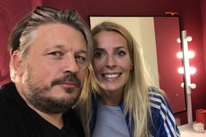 Image shows from L to R: Richard Herring, Sara Pascoe.