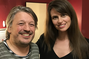 Richard Herring's Leicester Square Theatre Podcast. Image shows from L to R: Richard Herring, Ellie Taylor.