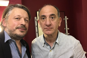 Richard Herring's Leicester Square Theatre Podcast. Image shows from L to R: Richard Herring, Armando Iannucci.