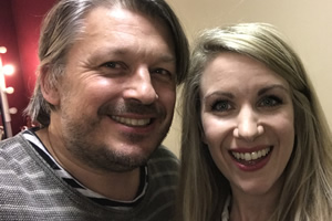 Richard Herring's Leicester Square Theatre Podcast. Image shows from L to R: Richard Herring, Rachel Parris.