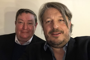 Richard Herring's Leicester Square Theatre Podcast. Image shows from L to R: John Moloney, Richard Herring.