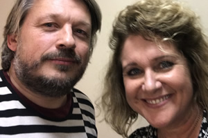 Richard Herring's Leicester Square Theatre Podcast. Image shows from L to R: Richard Herring, Jan Ravens.