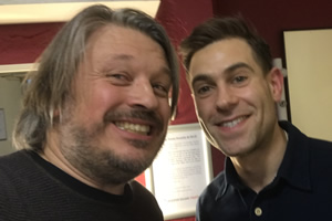 Richard Herring's Leicester Square Theatre Podcast. Image shows from L to R: Richard Herring, Simon Brodkin.
