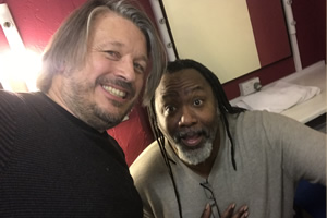 Richard Herring's Leicester Square Theatre Podcast. Image shows from L to R: Richard Herring, Reginald D. Hunter.
