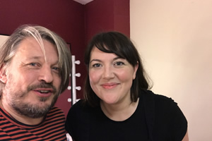 Richard Herring's Leicester Square Theatre Podcast. Image shows from L to R: Richard Herring, Katy Wix.