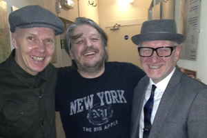 Richard Herring's Leicester Square Theatre Podcast. Image shows from L to R: Trevor Neal, Richard Herring, Simon Hickson.