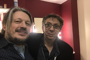 Richard Herring's Leicester Square Theatre Podcast. Image shows from L to R: Richard Herring, Peter Baynham.