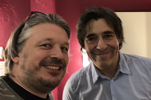 Richard Herring's Leicester Square Theatre Podcast. Image shows from L to R: Richard Herring, Mark Steel.