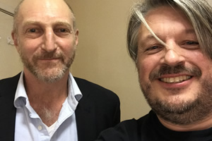 Richard Herring's Leicester Square Theatre Podcast. Image shows from L to R: Jonathan Ames, Richard Herring.