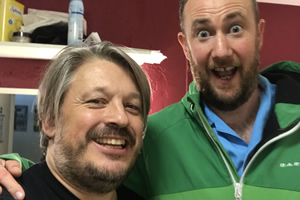 Richard Herring's Leicester Square Theatre Podcast. Image shows from L to R: Richard Herring, Alex Horne.