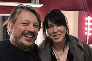 Richard Herring's Leicester Square Theatre Podcast. Image shows from L to R: Richard Herring, Alice Lowe.
