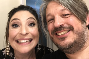 Richard Herring's Leicester Square Theatre Podcast. Image shows from L to R: Jess Robinson, Richard Herring.