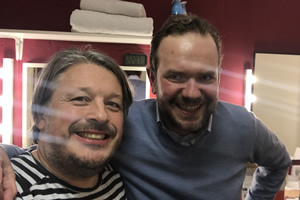 Richard Herring's Leicester Square Theatre Podcast. Image shows from L to R: Richard Herring, James O'Brien.