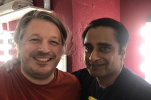 Richard Herring's Leicester Square Theatre Podcast. Image shows from L to R: Richard Herring, Sanjeev Bhaskar.