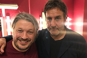Richard Herring's Leicester Square Theatre Podcast. Image shows from L to R: Richard Herring, Terry Hall.