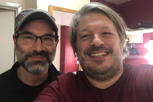 Image shows from L to R: Richard Herring, Adam Buxton.