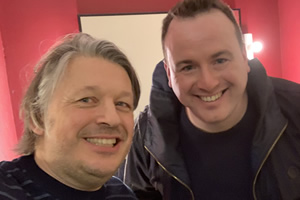Richard Herring's Leicester Square Theatre Podcast. Image shows from L to R: Richard Herring, Matt Forde.