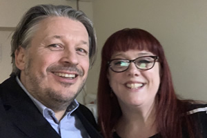 RHLSTP with Richard Herring. Image shows from L to R: Richard Herring, Angela Barnes.