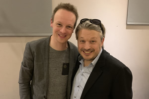 Richard Herring's Leicester Square Theatre Podcast. Image shows from L to R: Stephen Grant, Richard Herring.