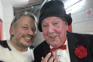 Richard Herring's Leicester Square Theatre Podcast. Image shows from L to R: Richard Herring, Jimmy Cricket.