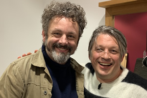 Richard Herring's Leicester Square Theatre Podcast. Image shows from L to R: Michael Sheen, Richard Herring.
