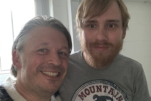 RHLSTP with Richard Herring. Image shows from L to R: Richard Herring, Bobby Mair.