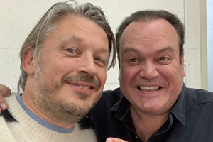 RHLSTP with Richard Herring. Image shows from L to R: Richard Herring, Shaun Williamson.
