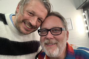 RHLSTP with Richard Herring. Image shows from L to R: Richard Herring, Vic Reeves.