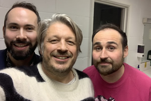 RHLSTP with Richard Herring. Image shows from L to R: Max Olesker, Richard Herring, Ivan Gonzalez.